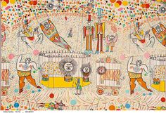 """Circus"" fabric by John Rombola"
