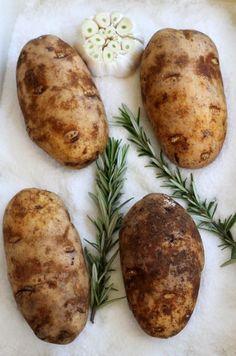 Salt Baked Potatoes {with Roasted Garlic & Rosemary}