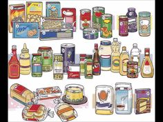 Groceries grocery Shop and items video English lesson