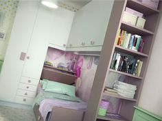 Camerette callesella ~ Wooden bedroom set for boys girls romantic composition 01 by