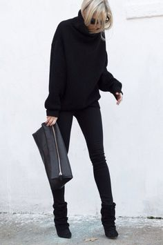 All black and sleek