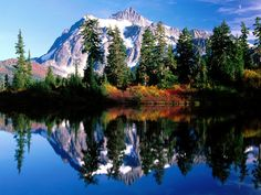 Mt. Shuksan in WA. That reflection is just amazing.