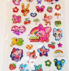 Kawaii Animal Shiny Sticker Sheet by PinkSpySupply on Etsy