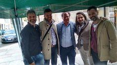 Mario Canovi candidato PD in consiglio comunale e in circoscrizione n. 3 Bondone, sabato 18 aprile 2015 assieme al Sindaco e candidato Sindaco Alessandro Andreatta.