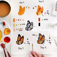 ew step-by-step tutorial is here Yay 💃🏻🥰🥰🥰 I've used this time gouache and super happy with result. Watercolor Drawing, Gouache Painting, Painting & Drawing, Watercolor Paintings, Gouache Tutorial, Small Canvas Art, Guache, Watercolour Tutorials, Doodle Art