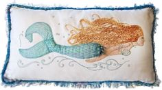 3D - Pearl of the Sea Mermaid Pillow