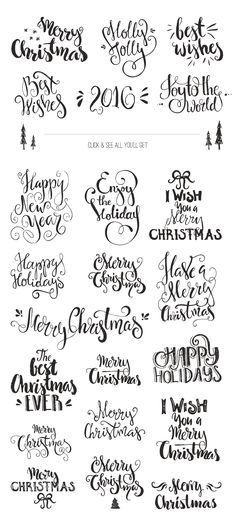 Handdrawn Christmas Photo Overlays by Favete Art on Creative Market More