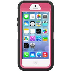 Otterbox Defender Series Case Raspberry Black/Pink for Apple iPhone 5S / 77-33384 - GoCellular.ca