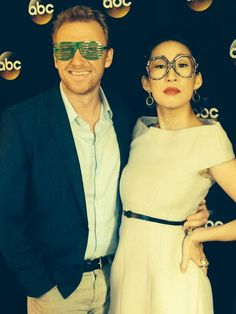 Kevin McKidd (Owen Hunt) & Sandra Oh (Cristina Yang) at the TCAs. Crowen. Grey's Anatomy.