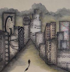 """""""Série Urban """" - Oeuvre originale unique, techniques mixtes - signée. : Collages par l-atelier-de-g"""