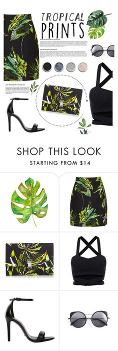 """Hot tropics !!"" by iconsoffashion ❤ liked on Polyvore featuring Proenza Schouler, Schutz, Wood Wood and Terre Mère"