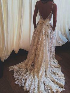 Backless Prom Dress,Bowknot Prom Dress,Lace Prom Dress,Fashion Prom