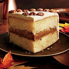 """The """"cooked"""" buttercream in this cake is an old-fashioned method that yields delicious results. The """"praline"""" is one of the South's most..."""