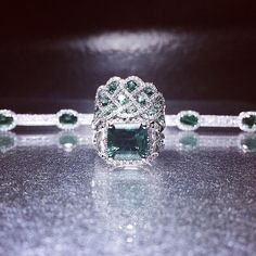 Lucky in love.  Firenze Jewels Style Numbers: #4829 #6037 #7051  #StPatricksDay #emeralds #diamonds #jewelry #green