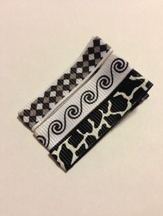 Black and White Hair Clippie Collection/ non slip by mycutesies, $2.00
