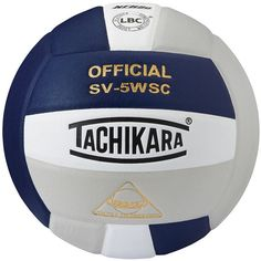 Tachikara Official SV5WSC Microfiber Composite Leather Volleyball,... ($40) ❤ liked on Polyvore featuring navy white silver