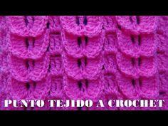Punto a crochet # 2 punto pavo real a crochet paso a paso- points crocheted - YouTube