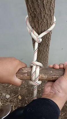 Rope Crafts, Diy Crafts Hacks, Diy Home Crafts, Rope Knots, Tying Knots, Sailing Knots, Survival Knots, Knots Guide, Fishing Knots