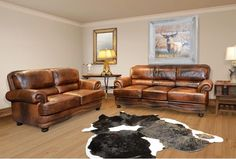 Cowboy Leather Sofa & Loveseat – Katy Furniture