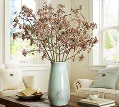 Faux Eucalyptus Berry Branch   Pottery Barn - love the vase!