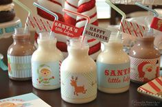 Oh What Fun - Water Bottle Labels -  Christmas 2011 Holiday Collection - Retro Kids Cookie Decorating Party on Etsy, $15.00