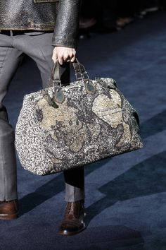 44e309ec5d Gucci Men s Fall Winter 2012-2013 Collection  Helmut Map Print Jacquard  Cotton Carry-