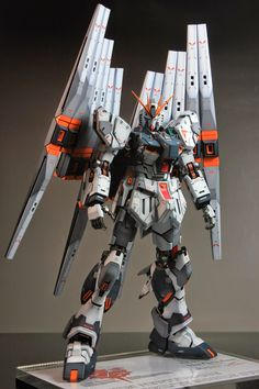 GUNDAM GUY: MG 1/100 Nu Gundam Ver. Ka - Customized Build w/ LEDs