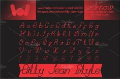 Billy Jean Style Font by weknow on @creativemarket