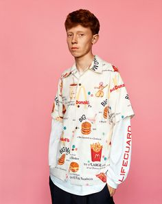 McDonald's print King Krule for i-D Magazine