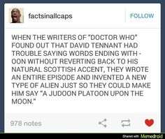 The Judoon were created to torment David Tennant - Doctor Who funny Johnlock, Destiel, Space Man, Nos4a2, Scottish Accent, 10th Doctor, Dc Movies, Films, Don't Blink
