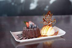 Lava Cake. Our delicious chocolate dessert. #chocolate #petitgateau #lavacake #desserts