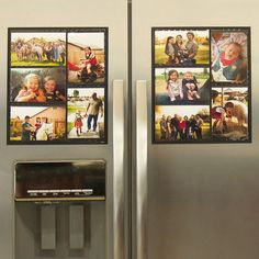 """Wind & Sea™ - #1 Magnetic Picture Frame Collage For Refrigerator - """"Black"""" Holds 10 - 4x6 Photos - Instantly Organizes Your Fridge For That Model Home Look - """"Slam-Proof"""" Flexible Magnet Design"""