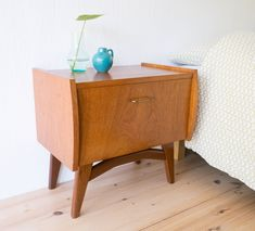 Nachtkastje - Vintage - Nightstand - Teak - midcentury Vintage Nightstand, Teak, Mid Century, Table, Furniture, Home Decor, Decoration Home, Room Decor, Medieval
