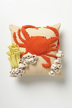 Hand-Crocheted Grotto Pillow #anthropologie