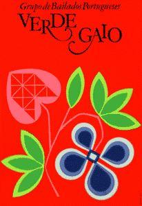 """Cartaz de Sebastião Rodrigues para o Grupo de Bailado """"Verde Gaio"""" (1971)"""
