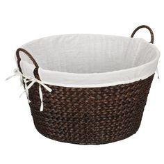 Banana Leaf Laundry Basket - Dark Brown, Natural