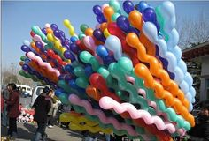 100Pcs Giant Latex Rubber Helium Spiral Balloons for Party Wedding Birthday qq1