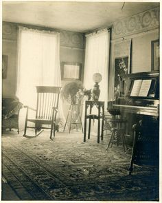 This period photo of a parlor was taken in 1868. The mansion was built in 1859.