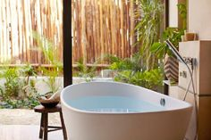Soaking Tub at Viceroy Riviera Maya, Playa del Carmen, Yucatan_Peninsula. Comes with  a Soap Concierge.