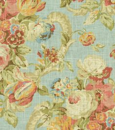 Home Dec Print Fabric-Waverly Spring Bling Cir Vapor