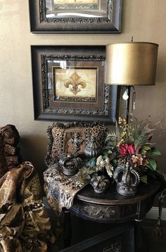 Reilly-Chance has Beautiful Table Top Decor for Your Old World Style Decor! Available Online and In Store Call today! Old World Decorating, Interior Decorating Styles, Tuscan Decorating, Elegant Home Decor, Luxury Home Decor, Tuscany Decor, Tuscan Design, Tuscan House, Mediterranean Home Decor