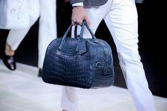 Giorgio Armani men S/S '14 leather bag