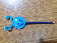 Blue pencil monster