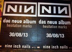 #Plakat Album Release Nine Inch Nails #Flächenplakatierung