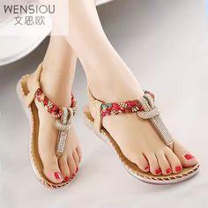 f74969fcf2aae Verano Mujer Sandalias Bohemia gladiador sandalia zapatos de las mujeres Flip  Flops Sandalias Mujer moda femenina