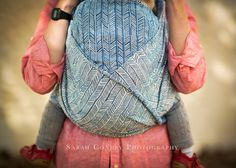 Woven Wings Azure Flax Feathers Woven Wrap sz 6 - RRP £249 - 27% Flax/linen 73% Egyptian Cotton - 348g/m² - 1 of 20 - 5th December 2014