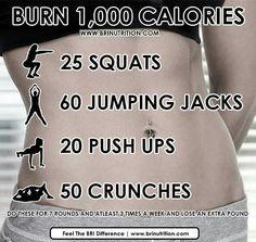 Burn 1000 calories