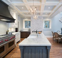 Transitional Kitchen Renovation.  Truer color representation of Kendall Charcoal Island