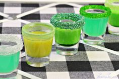 candy shots (color/flavor can be chosen based around theme) here: st. patrick's day!