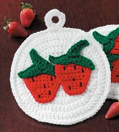 Ravelry: Berry Cute Crochet Potholders FREE pattern by Country Woman Magazine.